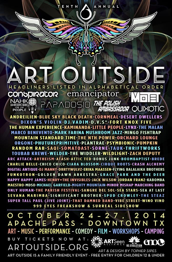 Art Outside 2014 - Branding - Topher Sipes Art & Design